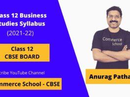 class 12th business studies syllabus cbse board 2021-22