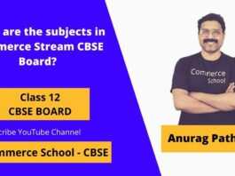 how many subjects in commerce stream cbse board