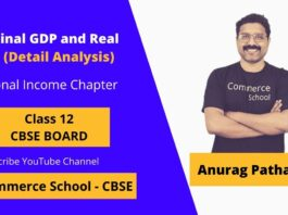 what is nominal gdp and real gdp class 12 CBSE Board